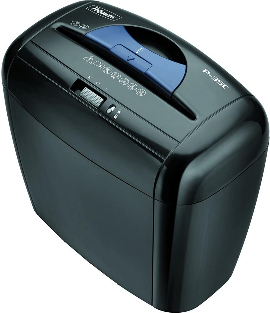 Fellowes Powershred P-35C 5-Sheet Cross-Cut Paper and Credit Card Shredder