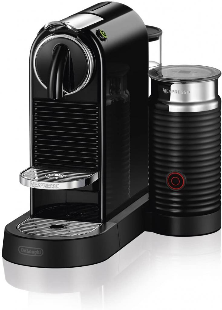 Nespresso CitiZ Original Espresso Machine with Aeroccino Milk Frother Bundle by De'Longhi