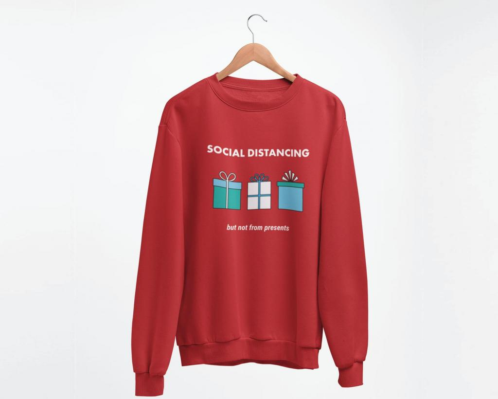 Social distancing jumper for Christmas