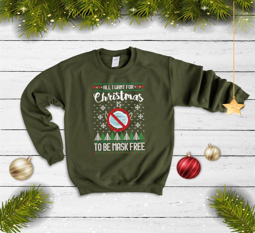 Funny Coronavirus Sweater to Urge People to Wear Masks