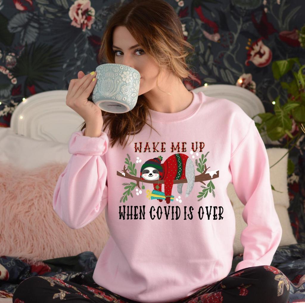 Pink sloth Christmas sweatshirt