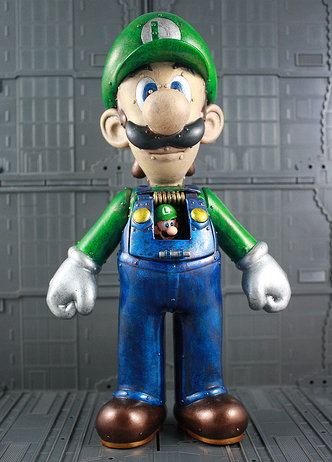 Kodykoala 1 Ups Himself With Custom Mecha Luigi Figurine