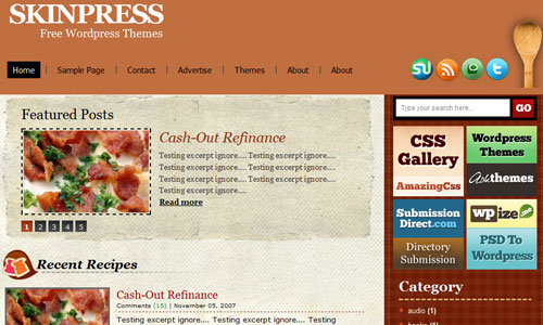 Recipy wordpress theme