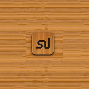 Wood Textured Social Media Icon