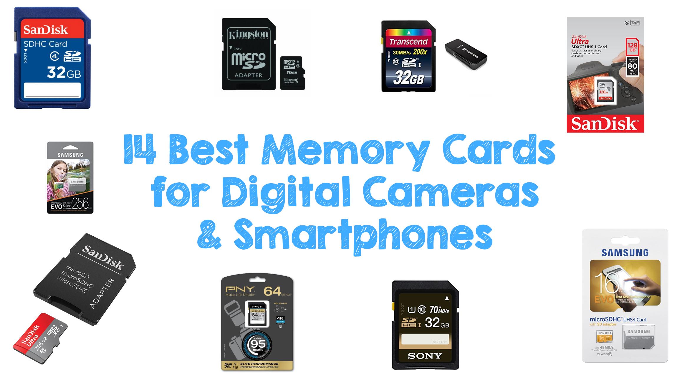 14 Best Memory Cards for Digital Cameras & Smartphones